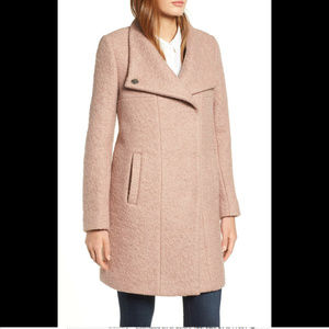 Kenneth Cole Women's Wool Trench Coat, Textured